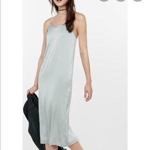 Express Slip Dress Satin Silver
